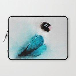 Masked Lovebird, Black-masked Lovebird, Collared Lovebird (Agapornis personatus)  Blue Parrot Bird Laptop Sleeve