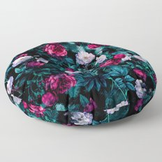 RPE FLORAL ABSTRACT III Floor Pillow