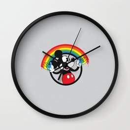 Mickey Rainbow Wall Clock
