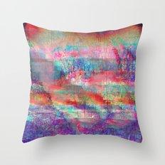 23-18-45 (Acid Rain Bed Glitch) Throw Pillow