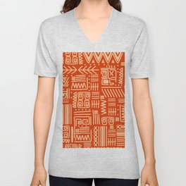 Vintage tribal ethic aztec hand drawn illustration pattern Unisex V-Neck