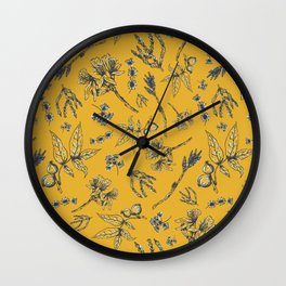 Botanical Floral Wall Clock