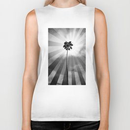 Palm Tree Retro Biker Tank