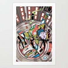 Cera closes the hatch Art Print