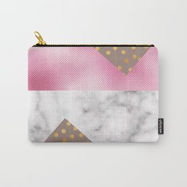 pink foil marble Carry-All Pouch