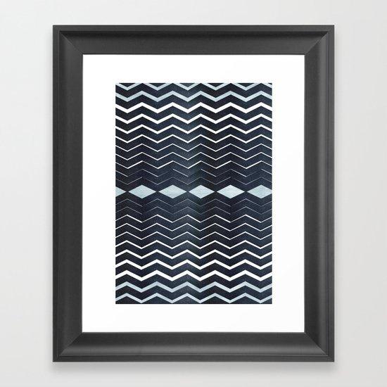 ELEGANT IN BLUE Framed Art Print