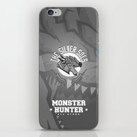 monster hunter iPhone & iPod Skins featuring Monster Hunter All Stars - The Silver Sols by Bleached ink