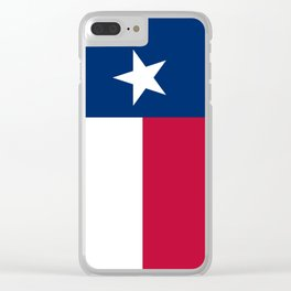 Texas state flag, High Quality Vertical Banner Clear iPhone Case