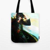 viria Tote Bags featuring Nico di Angelo by viria