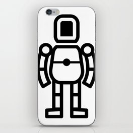 Small Robot Icon iPhone Skin