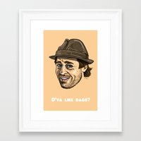 brad pitt Framed Art Prints featuring Snatch - Brad Pitt by MMA Illustration
