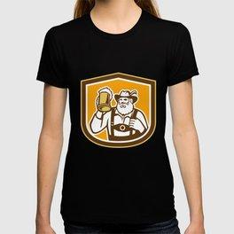 Bavarian Beer Drinker Mug Shield Retro T-shirt