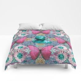 Green BB of the Butterflies Comforters