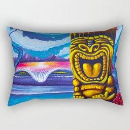 Tiki Moon Rectangular Pillow