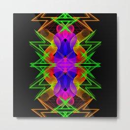 GFTNeon012 , Neon Abstract Metal Print
