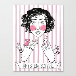 Kristen Schaal and Finger Puppets Canvas Print