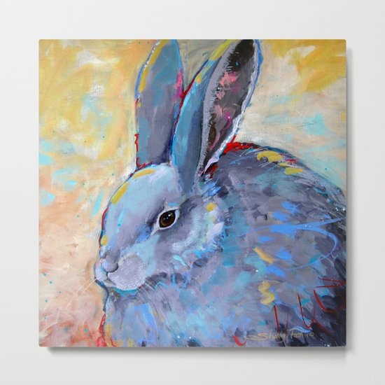 Be Still - Rabbit Bunny Fine Art Metal Print