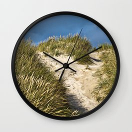 Scandinavian Sand Dune of Henne in Denmark Wall Clock