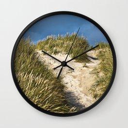 Scandinavian Sand Dune of Henne in Denmark Wall Clock