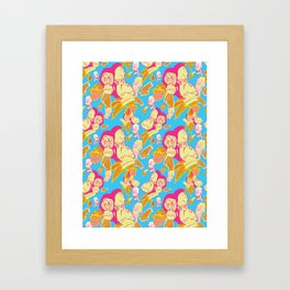Electric Banana Monkey Framed Art Print