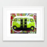 van Framed Art Prints featuring Van by Gabriel Prusmack and Sophia Buddenhagen