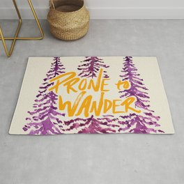 Prone to Wander - Gold and Purple Rug