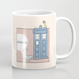 Don't Let the Pigeon Drive the Tardis Coffee Mug