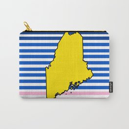 Maine Sunrise Graphic Art - Nautical Design - Great Gift for Bridesmaid Carry-All Pouch