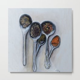 Spoons & Spices Metal Print