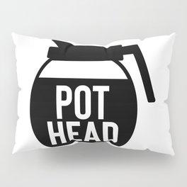 Coffee Pot Head Pillow Sham