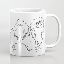 Beautiful Tibetan Spaniel Showdog Minimalist Outline Artwork Coffee Mug