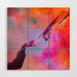 La Création d'Adam - Dorian Legret x AEFORIA Wood Wall Art