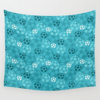 soccer Wall Tapestries featuring Soccer Dreams by Binge Crafter