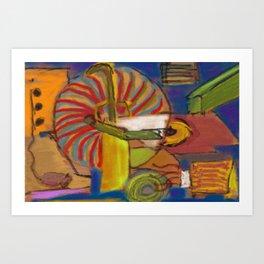 Hallucination Jukebox Art Print