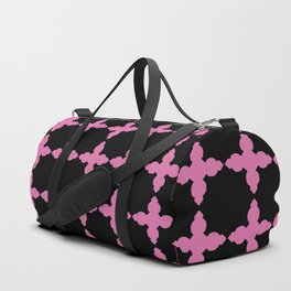 pink and black pattern Duffle Bag