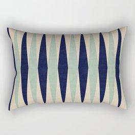 Blue Minimalist Bands Rectangular Pillow