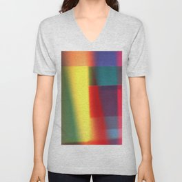 Colored blured pattern Unisex V-Neck