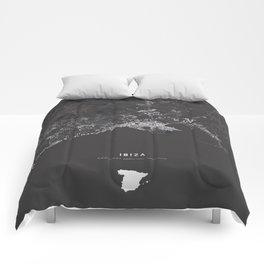 Ibiza City Map  Comforters