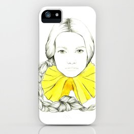 Frill Neck Lady iPhone Case