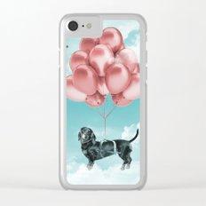 Dachshund Drift Clear iPhone Case