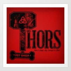 Thors Pet Shop Art Print