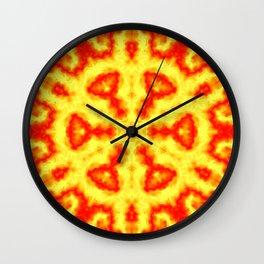Fire Kaleidoscope 1 Wall Clock
