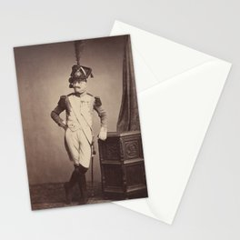 Vintage Photographic Print - M. Vitry of the Departmental Guard (1858) Stationery Cards