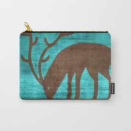 Blue Brown Deer Carry-All Pouch