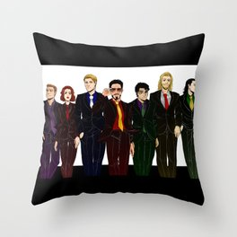Suitvengers Throw Pillow