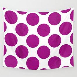 Fuchsia Polka Dot Wall Tapestry