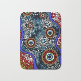 Aboriginal Art – Camping Bath Mat