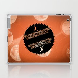 Music Speaks Laptop & iPad Skin