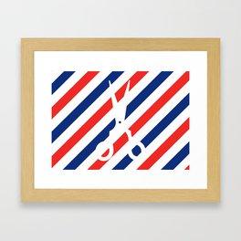 Barber Scissors Framed Art Print