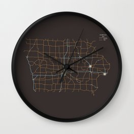 Iowa Highways Wall Clock